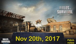 Rules of Survival: Patch notes - Notice (Nov.20)