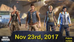 Rules of Survival Game: Notice (Nov.23)