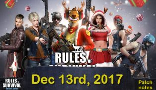 Rules of Survival: Patch notes Dec.13
