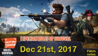 Rules of Survival Patch Notes Dec 21