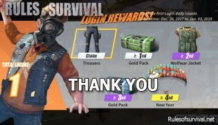 Rules of Survival: Thank You