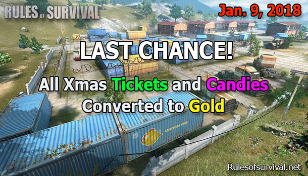Rules of Survival Xmas Tickets and Candies