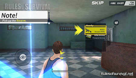 Rules of Survival See the image above and follow the yellow arrows