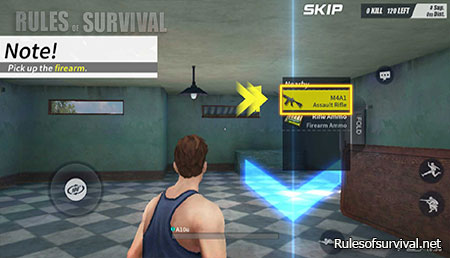 Rules of Survival Rifle Turning Up
