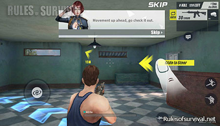 Rules of Survival Slide To Steer To The Left