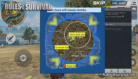 Rules of Survival Quickly Go to The Safe Zone
