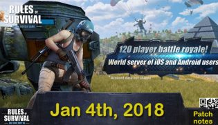 Rules of Survival Patch Notes Jan 4, 2018
