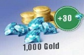 1000 Gold With Borus 30 Diamonds