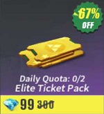 Daily Quota: 0/2 Elite Ticket Pack