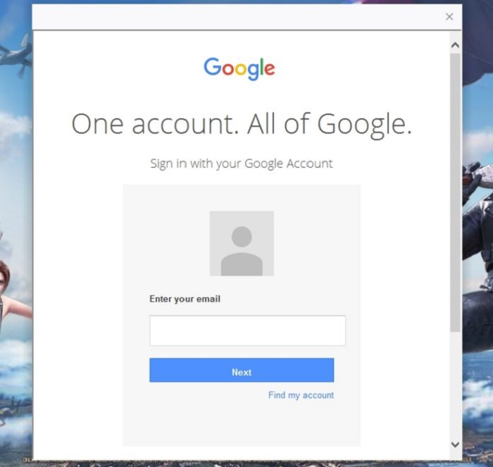 Using your Google account