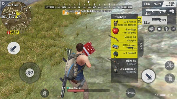 Make sure you survey the area before you loot any items from enemies